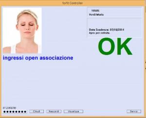 forfit - accesso di un cliente con foto