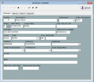 forfit - gestione contatti